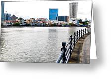 Singapore River Greeting Card by Chua  ChinLeng