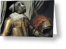 Sir Dog Greeting Card by Digit Art Mariel Everling
