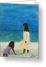 Sisters Greeting Card by Maureen House