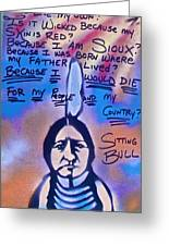 Sitting Bull...country Greeting Card by Tony B Conscious