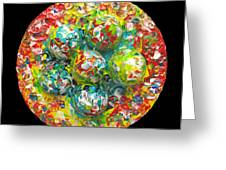 Six  Colorful  Eggs  On  A  Circle Greeting Card by Carl Deaville