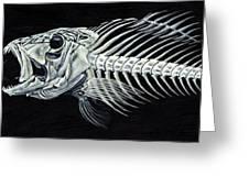 Skeletail Greeting Card by JoAnn Wheeler