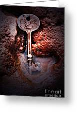 Skeleton Key No 523 Greeting Card by C E Dyer