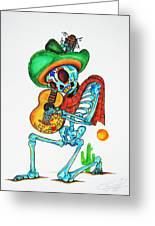 Skeleton Sombrero Greeting Card by Erik Pinto