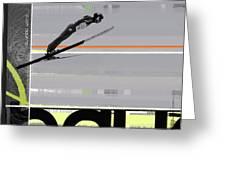 Ski Jumper Greeting Card by Naxart Studio
