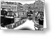 Skipton Canal Basin Greeting Card by Trevor Kersley