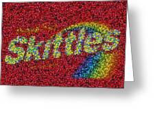 Skittles Mosaic Greeting Card by Paul Van Scott