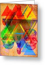 Skulls And Skulls Greeting Card by Pierre Louis