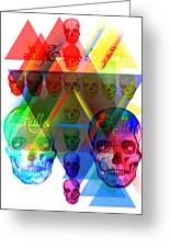 Skulls Illuminate Skulls Greeting Card by Pierre Louis