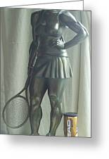 Skupture Tennis Player Greeting Card by Zlatan Stoilov