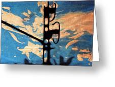 Sky - Travel serigraphic art Greeting Card by Arte Venezia