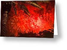 Sky Fire Greeting Card by Debra and Dave Vanderlaan