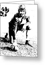 Slingin' Sammy Baugh 1937 Litho Greeting Card by Padre Art