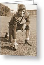 Slingin' Sammy Baugh 1937 Sepia Greeting Card by Padre Art