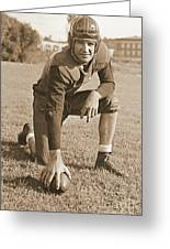 Slingin' Sammy Baugh 1937 Sepia Greeting Card by Padre Art