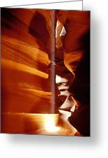 Slot Canyon Shaft Of Light Greeting Card by Garry Gay