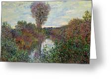 Small Branch Of The Seine Greeting Card by Claude Monet
