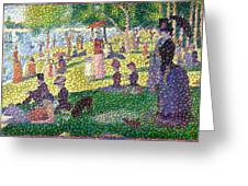 Small Bubbly Sunday on La Grande Jatte Greeting Card by Mark Einhorn