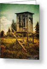 Small Cabin With Legs Greeting Card by Jutta Maria Pusl