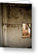 Small Window In An Abandoned Kitchen Greeting Card by RicardMN Photography
