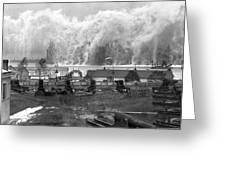 Smoke Screen Around Manhattan Greeting Card by Underwood Archives