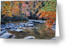 Smokey Mountains Autumn Greeting Card by Stanton D Allaben