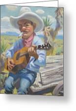 Smokin Guitar Man Greeting Card by Texas Tim Webb