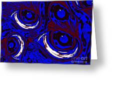 Smudge Eyes Greeting Card by Tina Logan