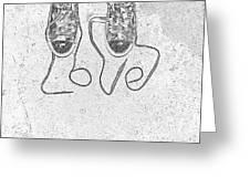 Sneaker Love 2 Greeting Card by Paul Ward