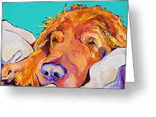 Snoozer King Greeting Card by Pat Saunders-White