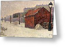 Snow Butte Montmartre Greeting Card by Paul Signac