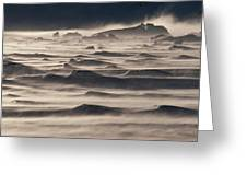 Snow Drift Over Winter Sea Ice Greeting Card by Antarctica