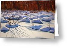 Snow Mounds Greeting Card by Daydre Hamilton