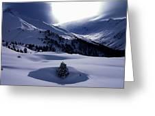 Snow Mountain Austria  Greeting Card by Colette V Hera  Guggenheim