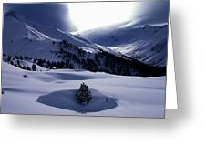 Snow Mountain Austria  Greeting Card by Colette V Hera  Guggenheim