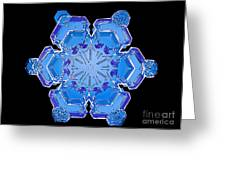 Snowflake From A Resin Cast Greeting Card by Science Source