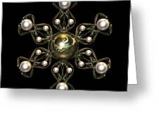 Snowflake Jewel Greeting Card by Hakon Soreide