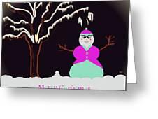 Snowlady Greeting Card by Jan Steadman-Jackson