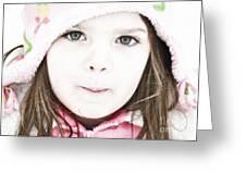 Snowy Innocence Greeting Card by Gwyn Newcombe