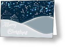 Snowy Night Christmas Card Greeting Card by Lisa Knechtel