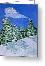 Snowy Pines Greeting Card by Heidi Smith