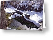 Snowy Stream Greeting Card by Virginia Hagerty