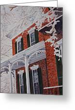 Snowy Yesteryear Greeting Card by Patsy Sharpe
