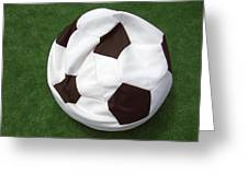Soccer Ball Seat Cushion Greeting Card by Matthias Hauser