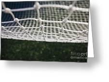 Soccer Net Greeting Card by Paul Edmondson