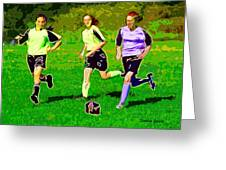 Soccer Greeting Card by Stephen Younts