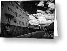 Social Housing Development Pearse House In Dublins Lower Sandwith Street Inner City Dublin Greeting Card by Joe Fox