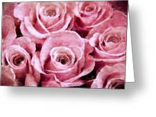Soft Pink Roses Greeting Card by Angelina Vick