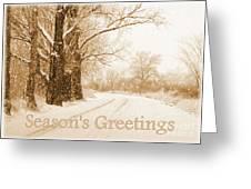 Soft Sepia Season's Greetings Card Greeting Card by Carol Groenen