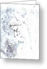 Solace Angel Greeting Card by Lisa Buchanan
